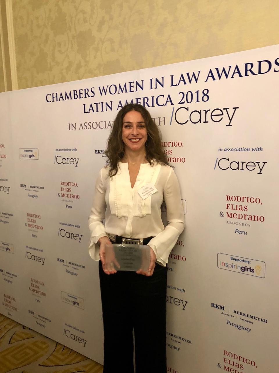 Carolina Zang ganó el Chambers Women in Law Awards de Argentina a3de6f498134