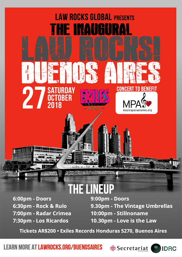 Inaugural Law Rocks Buenos Aires A4 Flyer Web