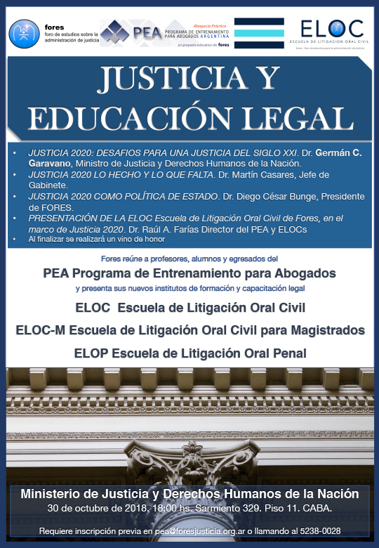 Justicia y Educacion Legal 30 10 18 1